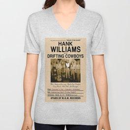 1947 Williams & Drifting Cowboys Camden Alabama Concert Poster Unisex V-Neck