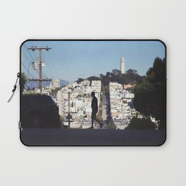 Silhouette from Near Lombard Looking Toward Coit Tower, San Francisco Laptop Sleeve