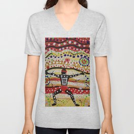 """The People of Uluru"" Unisex V-Neck"