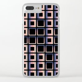Composition of squares Clear iPhone Case