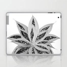 Gray Agave with Black Silver Glitter #1 #shiny #tropical #decor #art #society6 Laptop & iPad Skin