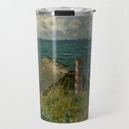 """Claude Monet """"La Cabane de Saint-Adresse"""" Travel Mug"""