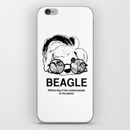 Beagle Dog for Coolest Owners - Beagle Lovers Gift Ideas iPhone Skin