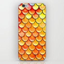 orange yellow mermaid tail iPhone Skin