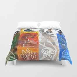 Legend of Korra Elements Duvet Cover