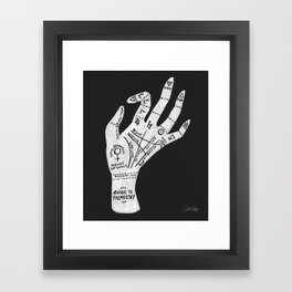 Palm Reading Framed Art Print