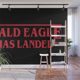 Strange Bald Eagle Has Landed Wall Mural