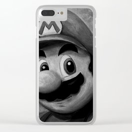 Plumber King Mario Clear iPhone Case
