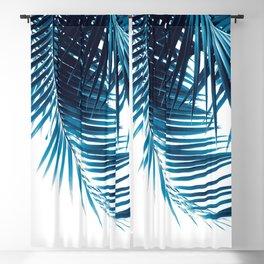 Palm Leaves Blue Vibes #1 #tropical #decor #art #society6 Blackout Curtain