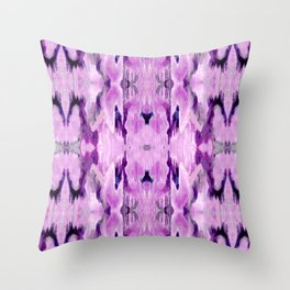 Pattern in Purple Throw Pillow