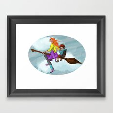 Ginny in flight Framed Art Print