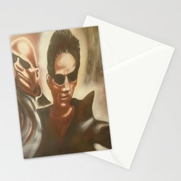 morpheus and neo Stationery Cards