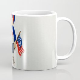 Toddlers Fourth of July Parade Watercolor Painting Coffee Mug