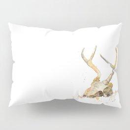 Deer Skull Watercolor Pillow Sham