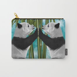 Panda Bear Twin Cubs Love Carry-All Pouch
