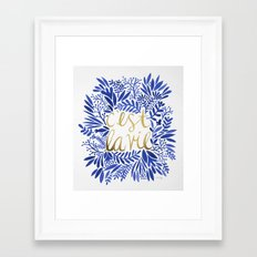 That's Life – Gold & Blue Framed Art Print