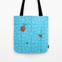 ladybug Tote Bags featuring Ladybug by JoonMoon