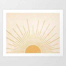 Sun #5 Yellow Art Print