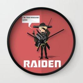 Mariachi Raiden Wall Clock