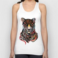 tiger Tank Tops featuring Tiger by Felicia Atanasiu