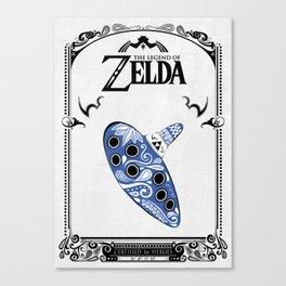 Zelda legend - Ocarina of time Canvas Print