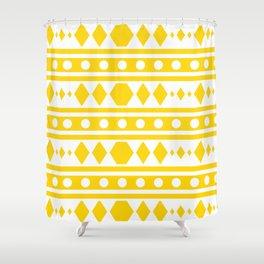 Tribal pattern Yellow Shower Curtain