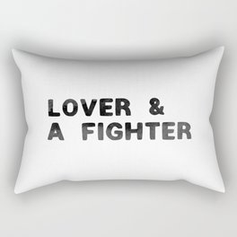 LOVER AND A FIGHTER - ink Rectangular Pillow