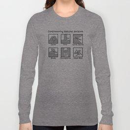 Canyoneering Natural Anchors Long Sleeve T-shirt