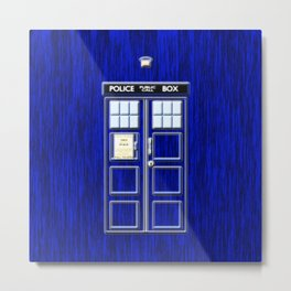 Tardis Time Metal Print