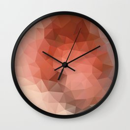 """Chocolate mousse"" geometric design Wall Clock"
