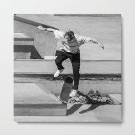 Go Skate Square Metal Print
