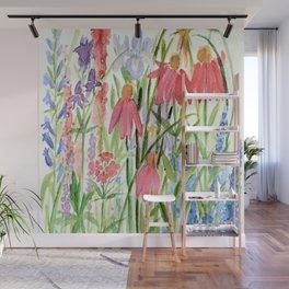 Garden Flowers Watercolor Wall Mural