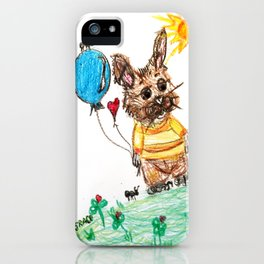::  Honey Rabbit on the Knoll :: iPhone Case