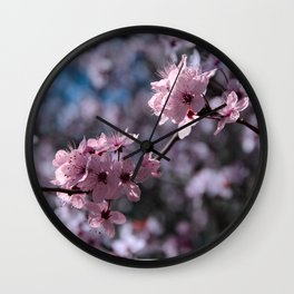 FLOWERING PLUM 2 Wall Clock