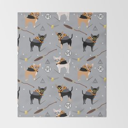 chihuahua witch wizard magical dog breed gifts Throw Blanket