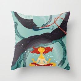 Alice in Wonder-zen (illustration 1) Throw Pillow