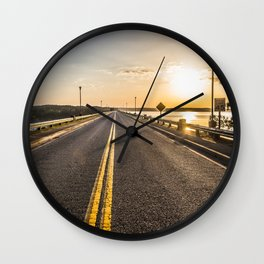 Sunset Road 2 Wall Clock