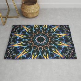 Night Sun Mandala Rug
