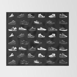 Black Sneaker Throw Blanket