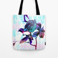 birdy Tote Bags featuring Birdy by Cata