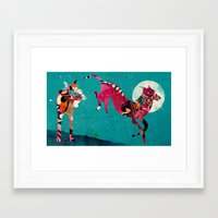 dogs Framed Art Prints featuring dogs by Alvaro Tapia Hidalgo