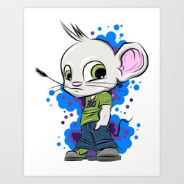 Stay 100 Mouse B2S Art Print