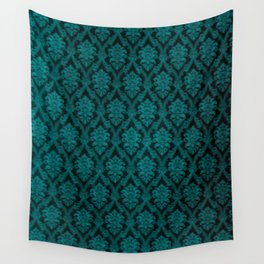 Teal Design Wall Tapestry