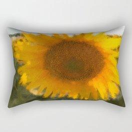 love yellow Rectangular Pillow