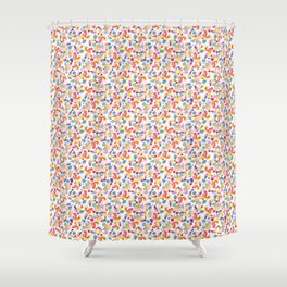Rainbow Watercolor Circles Shower Curtain