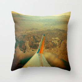 Southwest to LAX Throw Pillow