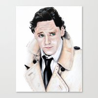 tom hiddleston Canvas Prints featuring Tom Hiddleston by Calomiel
