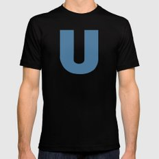 U is for... Black MEDIUM Mens Fitted Tee
