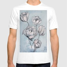 Remember MEDIUM White Mens Fitted Tee