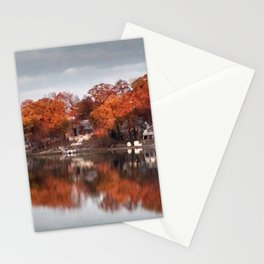 Pine Lake Autumn Stationery Cards